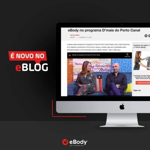eBody apresentou o seu conceito de estúdio de electroestimulação no programa D'Mais, no Porto Canal